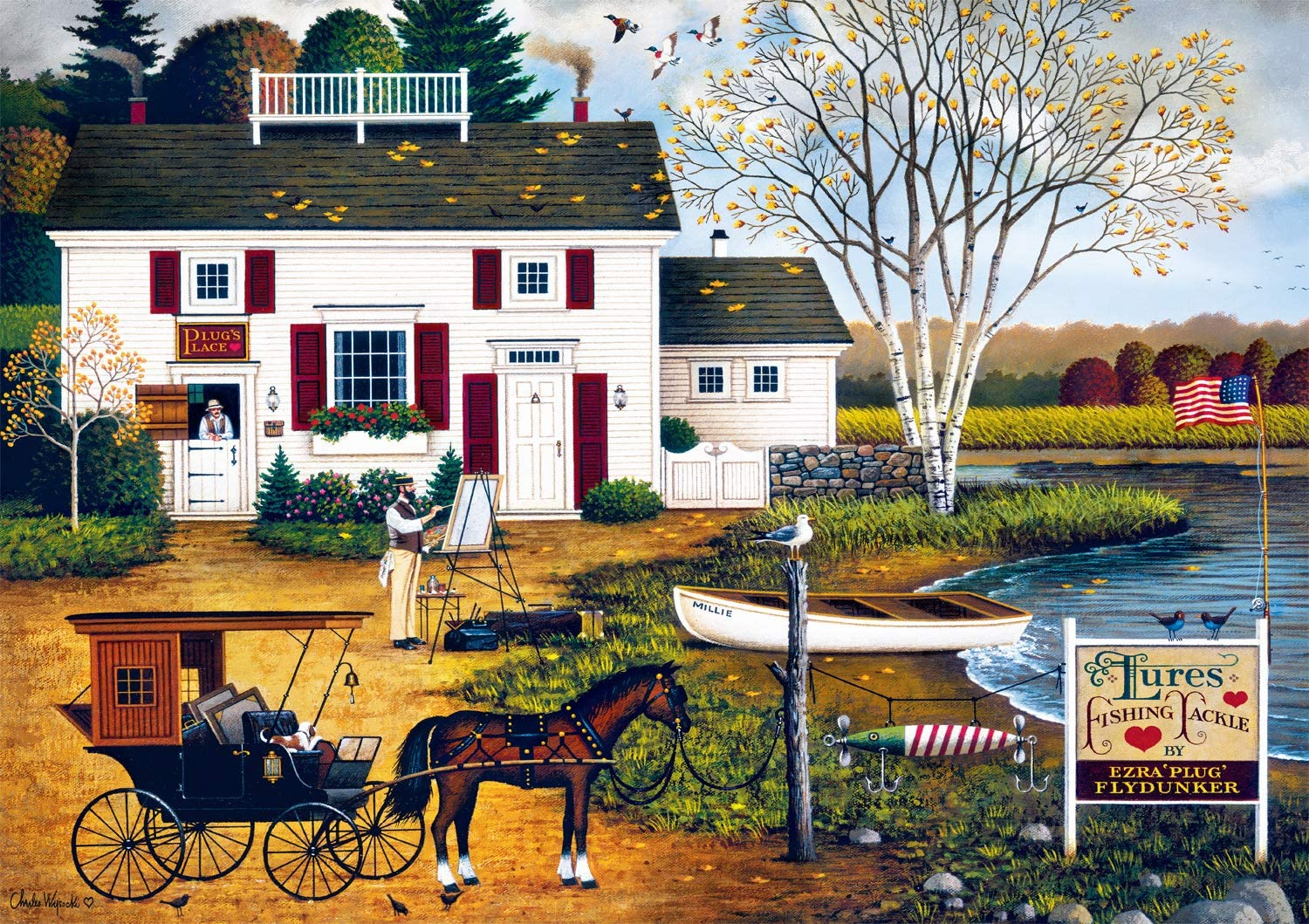 Buffalo Games - Charles Wysocki Ranking integrated 1st place Birch 300 Point P Max 42% OFF Cove Large