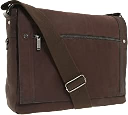 """Busi-Mess Essentials"" - Single Gusset Flapover Messenger Bag"