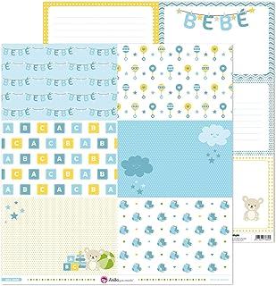 Anita y Su Mundo Collection Papier pour scrapbooking Motif bébé Bleu 30,5 x 30,5 cm