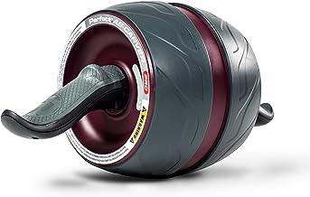 Perfect Fitness buiktrainer met kniebeschermers en afroller/loopfiets, fitnessapparaat voor thuis, zwart