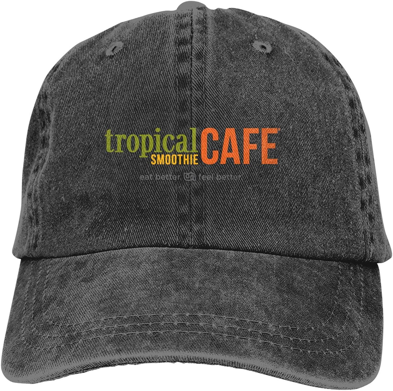 Tropical-Smoothie-Cafe Cowboy Hat Cotton Adjustable Washable Retro Baseball Cap