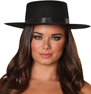 Roma Costume 14-H109-AS-O-S Zorro Hat, One Size