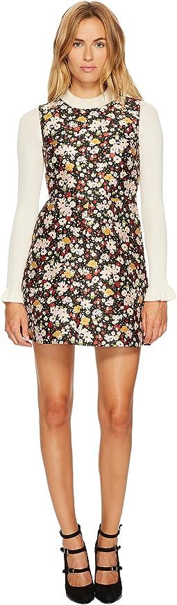 RED VALENTINO - Chelsea Microflower Jacquard Dress