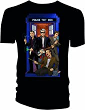 Doctor Who 4 Doctors Band Mens Black T-Shirt