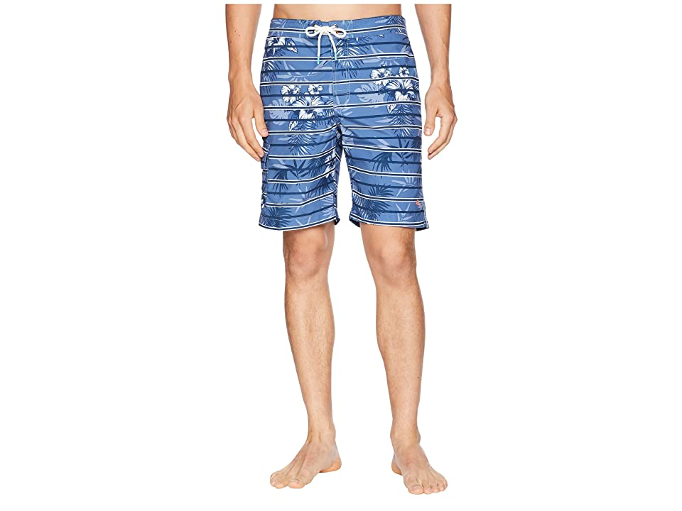 Tommy Bahama Baja Satillo Stripe Swim Trunk (Ocean Deep) Men