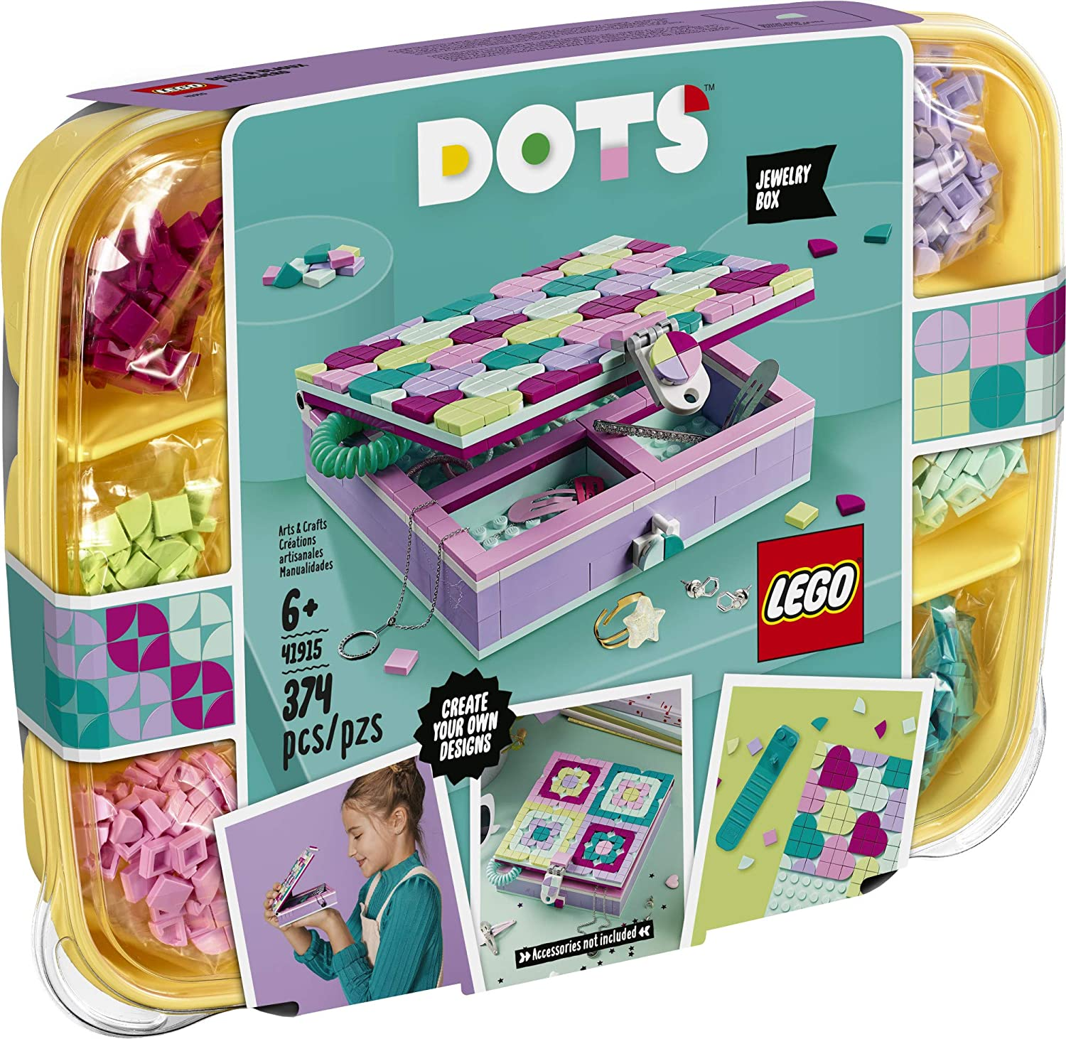 LEGO DOTS Jewelry Box 20 Craft Decorations Art Kit, for Kids Who are  Into Cool Arts and Crafts, A Great Entrance into Unique Arts and Crafts  Toys ...