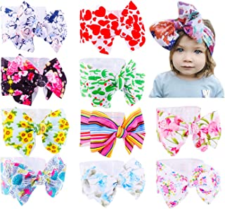 Baby Girl Diy Elastic Headbands Newborn Infant Toddler Hairbands Children Big Bows Knotted Soft Headwrap Hair Accessories