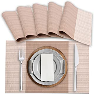 Amazon Brand – Eono 6 pièces Tapis de Table en PVC, Antidérapant et Imperméable, Lavable, Respectueux de l'environnement, ...