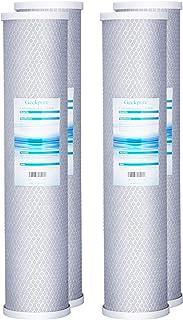 """Geekpure 50,8 cm Grand Bleu Bloc Carbone cartouche filtre à eau pour toute la maison (lot de 4) -20 """"X4.5"""""""