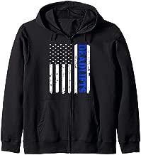 Distressed American Flag Deadlift Shirt, Gym Workout Zip Hoodie