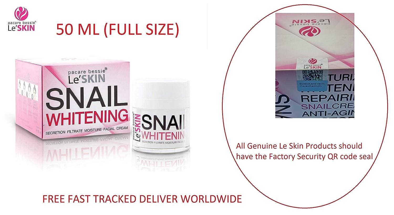 特定の全国憲法Le'SKIN Snail Whitening Secretion Filtrate Moisture Facial Cream 50 ml