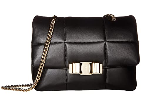 Salvatore Ferragamo Puff Purse w/ Chain Strap