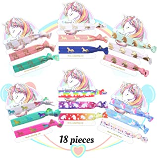 Unicorn Hair Ties Bracelet Elastic Ponytail HoldersParty Favors Birthday Gifts Supplies Decorations for Girl and Children...