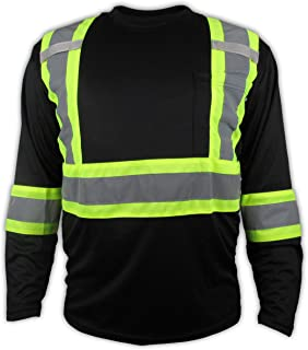Black High Visibility Safety Shirt/Class 3 - Level 2 (XL)