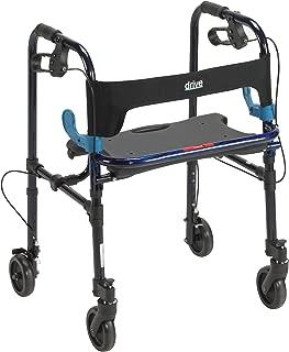 Clever-Lite Walker w/Seat & Push-Down Brakes