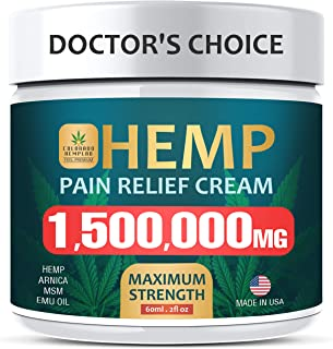 Pain Relief Cream - Maximum Strength 1,500,000 MG - Fast Relief from Pain, Ache, Arthritis & Inflammation - Made & 3rd Party Lab Tested in USA