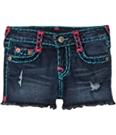 True Religion Kids - Bobby Raw Edge Shorts (Big Kids)