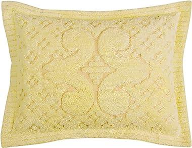 Better Trends Ashton Collection in Medallion Design 100% Cotton Tufted Chenille, Standard Sham, Yellow