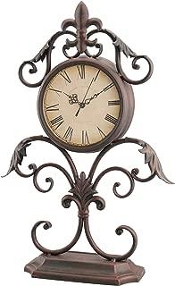 Stonebriar Fleur De Lis Table top Clock