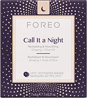 Foreo Call It A Night Revitalizing and Nourishing UFO Activated Mask for Unisex - 7 x 0.21 oz Mas