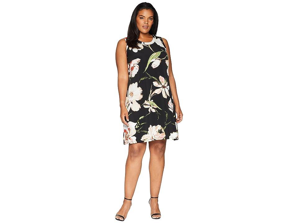 Karen Kane Plus Plus Size Halter Dress (Print) Women