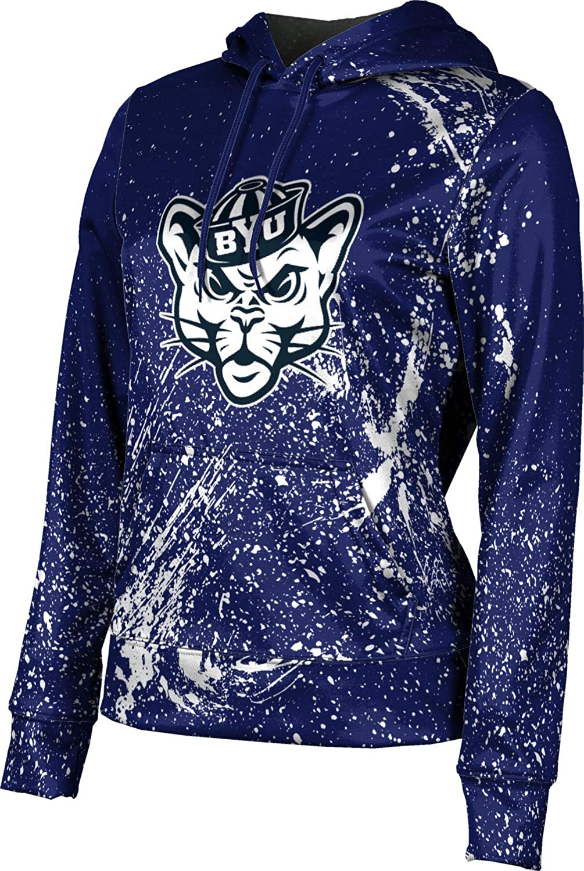 Brigham Young University Girls' Pullover Hoodie, School Spirit Sweatshirt (Splatter)