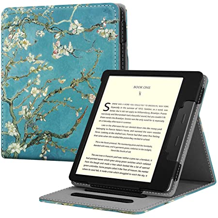 Fintie Flip Case for All-New Kindle Oasis (10th Generation, 2019 Release and 9th Generation, 2017 Release) - Multi Angle Hands Free Viewing Stand Cover with Auto Sleep Wake, Blossom
