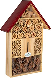 JCs Wildlife Wide Insect Hotel - Welcomes Mason Bees, Leaf-Cutter Bees, Other Solitary Bees, Lacewings, Ladybugs, Beetles ...
