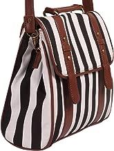 Adbucks Womens Shoulder Bags with Stripes Black,White