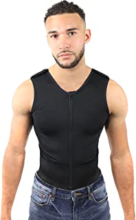 Post OP Gynecomastia Recovery Garment Chest Compression Male Vest (11)