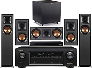 Denon 7.2-Channel Wireless Bluetooth 4K 3D A/V Surround Sound Receiver + Klipsch Multimedia Home Theater Speaker System