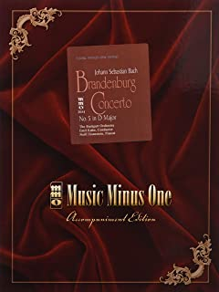 J.S. Bach - Brandenburg Concerto No. 5 in D Major, BWV1050: Music Minus One Piano (Music Minus One (Numbered))