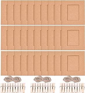 Sunmns Wall Decor Hanging Display Paper Photo Frame Set for Fujifilm Instax Mini 9 8 70 90 26 Film, 30 Piece (Brown)