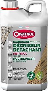 OWATROL – NET-TROL – Dégriseur et Dégraissant Tous Bois Extérieurs Terrasse Mobilier de Jardin Bois Exotique – Dégriseur N...