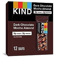 Deals on 12-Ct KIND Dark Chocolate Mocha Almond Healthy Snack Bar 1.4Oz