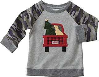 Mud Pie Mens Camo Christmas Sweatshirt (Infant/Toddler)