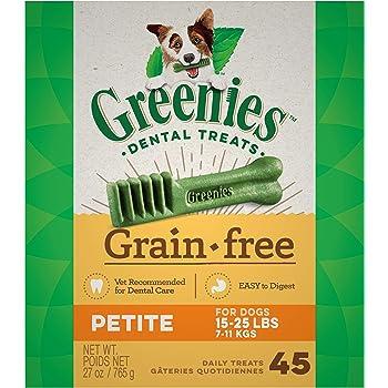GREENIES Grain Free Natural Dental Dog Treats - Petite (15-25 lb. dogs)