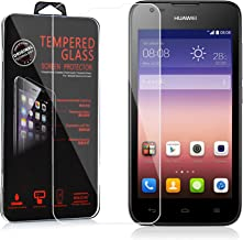 Cadorabo Tempered Glass Works with Huawei Ascend Y550 in HIGH Transparency – Screen Protection 3D Touch Compatible with 9H Hardness – Bulletproof Display Saver