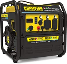 Champion Power Equipment 200914 4250-Watt Open Frame Inverter Generator, Dual Fuel Technology