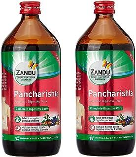Zandu Pancharishta 450 ml Pack van 2 spijsvertering Ayurvedische spijsvertering, gezondheid Tonic