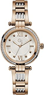 Gc Womens Quartz Watch, Analog Display And Stainless Steel Strap - Y56002L1MF