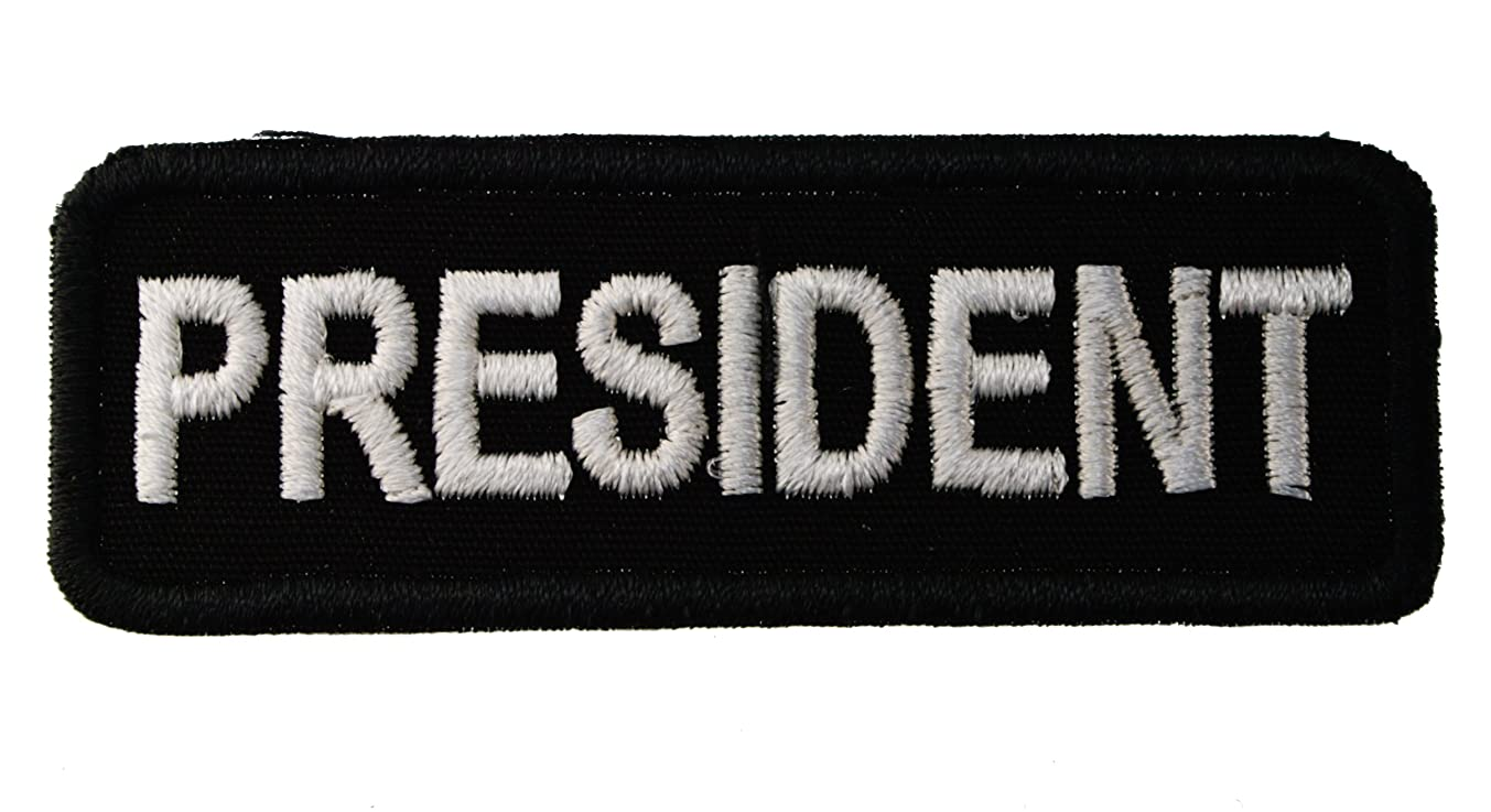 President Biker Iron on Embroidered Patch D44