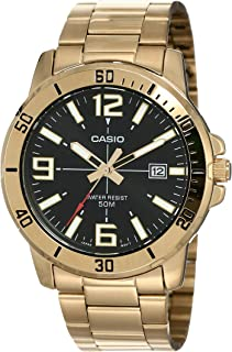 Casio Enticer Analog Black Dial Men's Watch - MTP-VD01G-1BVUDF (A1367)