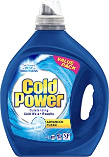 Cold Power Advanced Clean, Liquid Laundry Detergent, 4 Litres, 80 Washloads