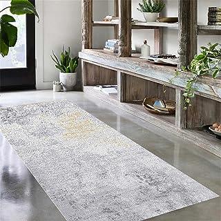 TONGQU Tapis de Passage, Moderne Long Antiderapant Polyester Tapis de Couloir pour Cuisine Chambre Salon Couloir Entree, F...