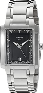 Tissot Women's Black Dial Stainless Steel Band Watch -