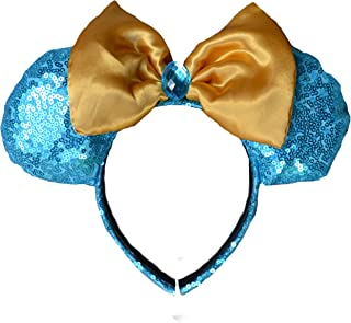 Charmed Creations - Princess Inspired Bow Headband, Mickey/Minnie Mouse Ears, Princess Party, One Size Fits All