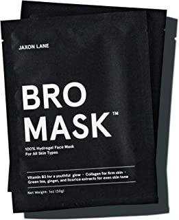BRO MASK: Korean Face Mask for Men   2 Pc. Hydrating Anti Aging Sheet Masks Contains Vitamin C, Vitamin E, Hyaluronic Aci...