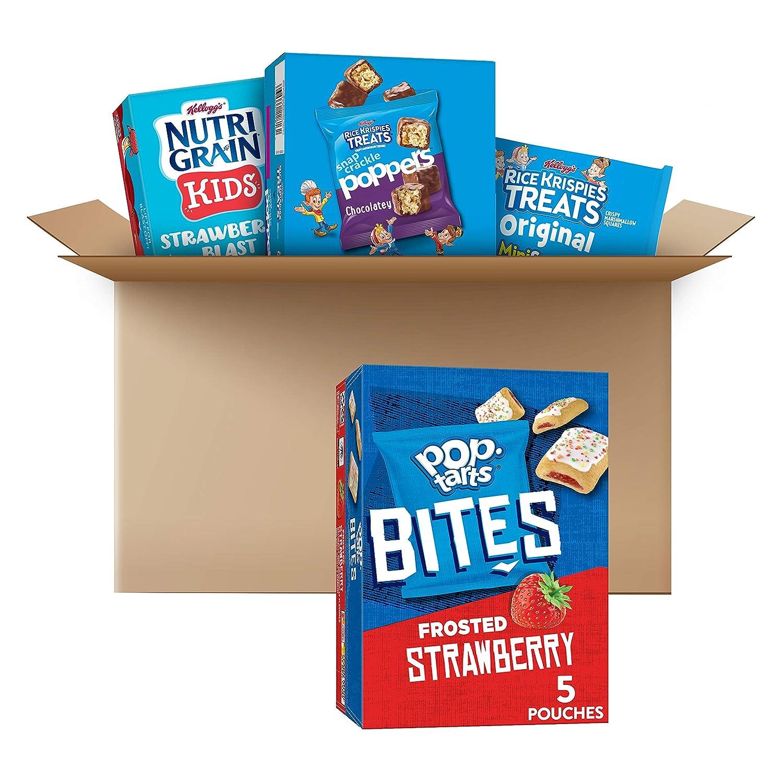 Kellogg's School Snacks, Variety Pack, Kids Snacks, Lunch Food (34 Count)