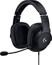 Logitech G Pro Gaming Headset with Pro Grade Mic for Pc, PC VR, Mac, Xbox One, Playstation 4, Nintendo Switch (Renewed)